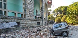El terremoto dejó varios daños materiales en Albania. Foto: @NOTICIAS_chelme.
