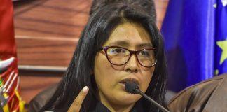 Eva Copa, presidente de la Camara de Senadores FOTO: Los Tiempos