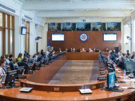 Sesión de la Organización de Estados Americanos. Foto: RRSS.