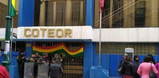 Las puertas de la Cooperativa se encuentran totalmente cerradas. Foto: LA PATRIA.