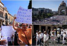 Las personas protestan por la falta de seguridad en México. Foto:El País.