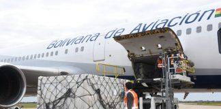 Llega a Bolivia el segundo cargamento de más de 334 mil vacunas Sinopharm